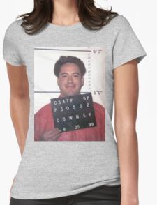 robert downey jr. mugshot Womens Fitted T-Shirt