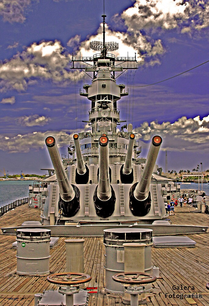 USS Missouri 16 inch guns (front view) by Turtle6