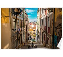 Alley in Lisbon Poster