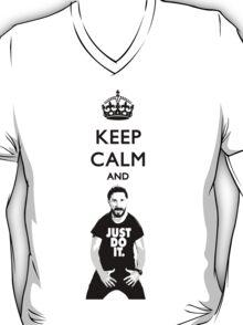 Keep Calm and JUST DO IT. (Transparent Text) T-Shirt