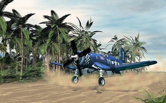 Vought F4u Corsair by Walter Colvin
