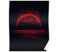 Lost Home! Colosal Future Sci-Fi Deep Space Scene in diabolic Red Poster
