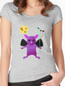 Flying Batty Women's Fitted Scoop T-Shirt