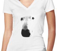 Bull Terrier Face Tee Women's Fitted V-Neck T-Shirt