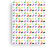 Colourful Dinosaurs Pattern Canvas Print