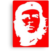 Che Guevara, Cuba, Peoples Revolution, Freedom, in white Canvas Print