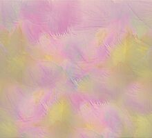 Soft Pastel Feathered Abstract by Judy Palkimas