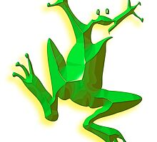 GREEN FROG, Jumping Jehoshaphat! Help! its the Green frog! Pond life by TOM HILL - Designer