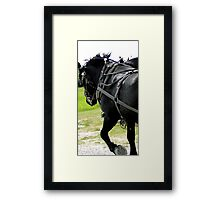 Tough Black Framed Print
