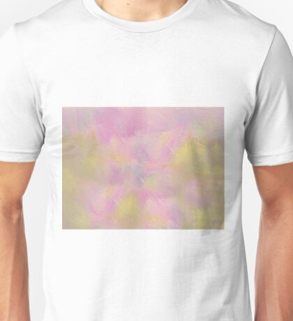 Soft Pastel Feathered Abstract Unisex T-Shirt