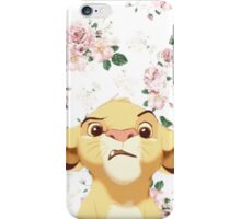 floral simba iPhone Case/Skin