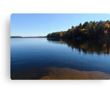 A Blue Autumn Afternoon - Algonquin Lake Serenity Canvas Print
