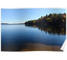 A Blue Autumn Afternoon - Algonquin Lake Serenity Poster