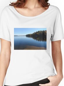 A Blue Autumn Afternoon - Algonquin Lake Serenity Women's Relaxed Fit T-Shirt