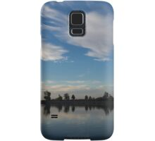 Blue and White Serenity - a Lakefront Stillness Samsung Galaxy Case/Skin
