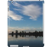Blue and White Serenity - a Lakefront Stillness iPad Case/Skin
