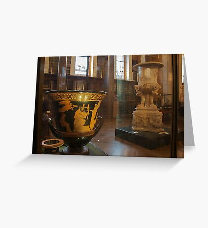Greek vases in The Enlightenment Room, The British Museum Greeting Card