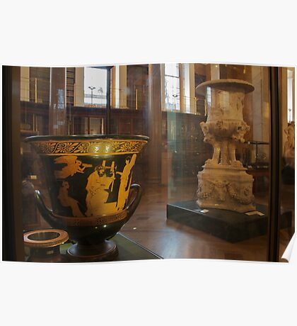 Greek vases in The Enlightenment Room, The British Museum Poster