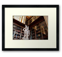 Ganymede and the eagle of Zeus Framed Print
