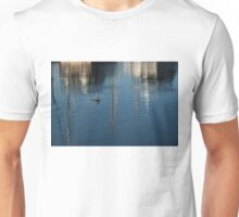 Young Red-Necked Grebe on Silver Unisex T-Shirt