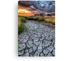 Cracked Sunset Canvas Print