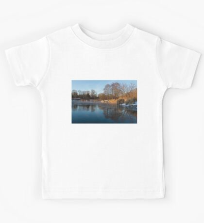Still and Early - Icy Reflections With a Touch of Snow Kids Tee