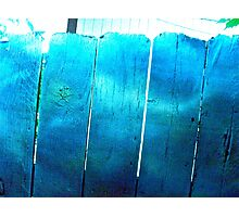 Blue Barriers Photographic Print