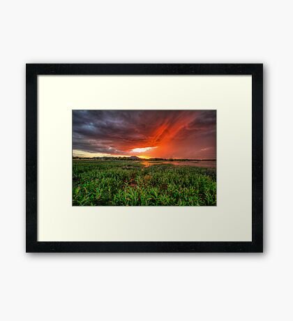 Burn The Sky Framed Print