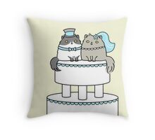 Kitty Cat Wedding Throw Pillow