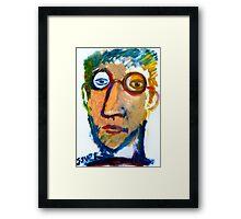 self in oil on paper Framed Print