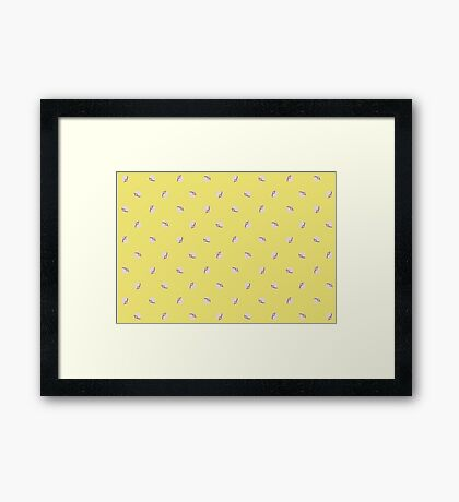 Premier Balls Yellow Framed Print