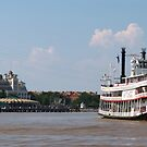 Steamboat Natchez Headed to Dockside by Ron Russell