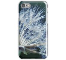 Gouttes d'eau sur pissenlit tons de bleu vert iPhone Case/Skin