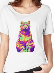 Psychedelic Cat III Women's Relaxed Fit T-Shirt