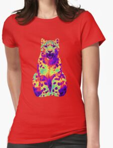 Psychedelic Cat III Womens Fitted T-Shirt