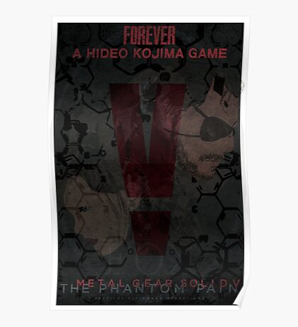 Metal Gear Solid V: The Phantom Pain Minimal Poster Poster