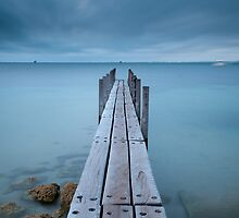 wooden jetty by Charlie Watkins