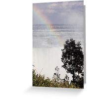 Niagara Falls/ Rainbow view from the top Greeting Card