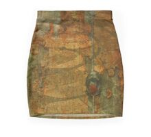 Rusted Labyrinth Grunge Pencil Skirt
