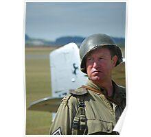 US Marine at Duxford, Cambridgeshire Poster