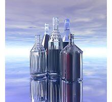Five Bottles Photographic Print