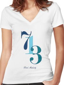 713 Women's Fitted V-Neck T-Shirt