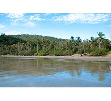 Cape Hillsborough, a windy afternoon on the beach Photographic Print