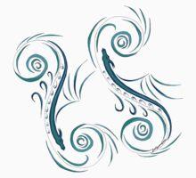 Mystical Sea Serpent Kids Tee