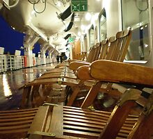 "View of Promenade Deck, ""MV Osterdam"" Holland America Line. by joycee"