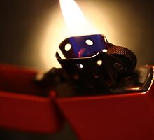 Orange Flame by Rick Grundy