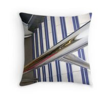 Abstract, stairs & rail Throw Pillow