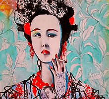 Smoking Geisha by John Dicandia  ( JinnDoW )