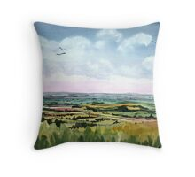 """""""Mewing Buzzards"""" - Neroche Forest, Blackdowns, Somerset Throw Pillow"""