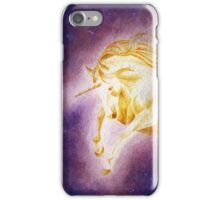 Sun Unicorn (Ballpoint Pen+Watercolor Painting) iPhone Case/Skin